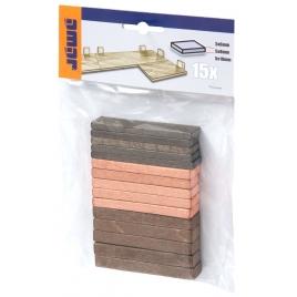 Assortiment de cales pour parquet 6, 8 et 10 mm 15 pièces CANDO