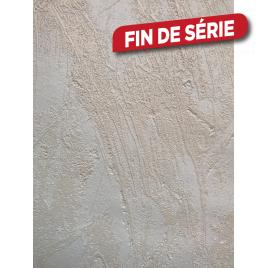 Papier peint expansé intissé relief 106 cm uni beige