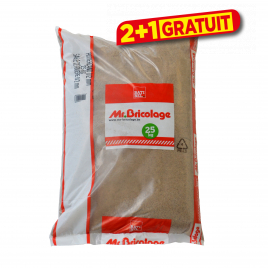 Palette 40 sacs Sable de rivière pour maçonnerie Mr.Bricolage 0 à 2 mm 25 kg (livraison à domicile)