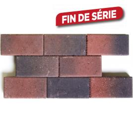 Palette 560 Pavés rouges et noirs en béton 22 x 11 x 5 cm (livraison à domicile)