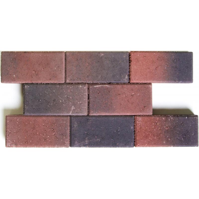 Palette 560 Paves Rouges Et Noirs En Beton 22 X 11 X 5 Cm Livraison
