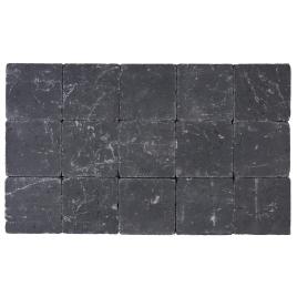 Palette 105 Pavés noirs tambourinés 15 x 15 x 5 cm (livraison à domicile)