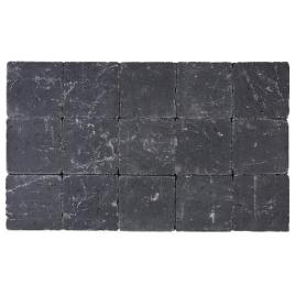 Palette 630 Pavés noirs tambourinés Cylindre 15 x 15 x 4 cm (livraison à domicile)