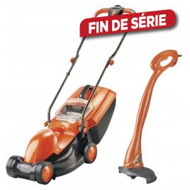 Pack tondeuse électrique 1100 W et coupe bordure 230 W FLYMO