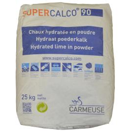 Palette 50 sacs Chaux hydratée SuperCalco 90 25 kg (livraison à domicile)