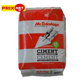 Palette 56 sacs Ciment multi-usages à durcissement rapide CEMII/B-M résistance 32,5 25 kg MR. BRICOLAGE (livraison à domicile)