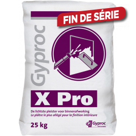 Palette 45 sacs Plâtre X Pro 25 kg GYPROC (livraison à domicile)