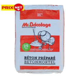 Palette 48 sacs Béton préparé 25 kg MR.BRICOLAGE (livraison à domicile)