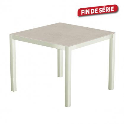 table de jardin blanche uptown light 90 x 90 x 74 cm. Black Bedroom Furniture Sets. Home Design Ideas