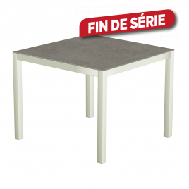 Table de jardin blanche Uptown Dark 90 x 90 x 74 cm