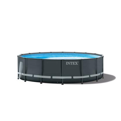 Piscine Ultra Frame avec filtre à sable Ø 488 x 122 cm INTEX