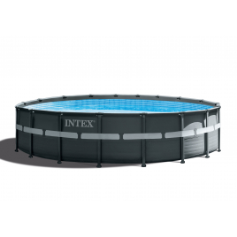 Piscine Ultra Frame avec filtre à sable Ø 549 x 132 cm INTEX
