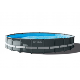 Piscine Ultra Frame avec filtre à sable Ø 610 x 122 cm INTEX