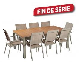 Ensemble de jardin Montréal : 1 table et 8 fauteuils
