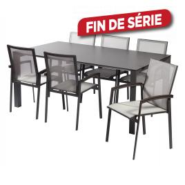 Ensemble de jardin Ceramic : 1 table et 6 fauteuils