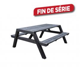 Table de pique-nique Lubin Nero 180 x 150 x 75 cm CARTRI