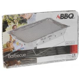 Barbecue jetable avec charbon 48 x 31 x 6 cm