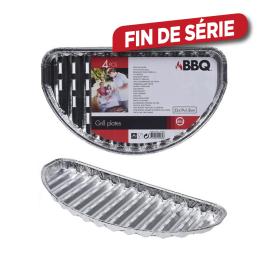Barquette en aluminium avec trous 32 x 19 x 1,8 cm 4 pièces