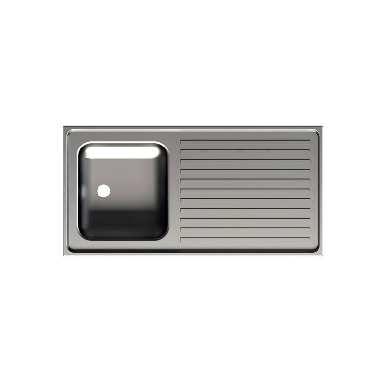 vier de cuisine poser 1 bac r versible pour meuble de. Black Bedroom Furniture Sets. Home Design Ideas