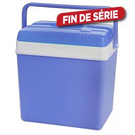 Glacière bleue et blanche 24 L 39 x 26 x 32 cm