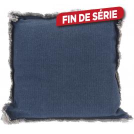 Coussin de chaise bleu 40 x 40 x 8 cm