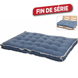 Coussin bleu pour palette 120 x 80 x 8 cm