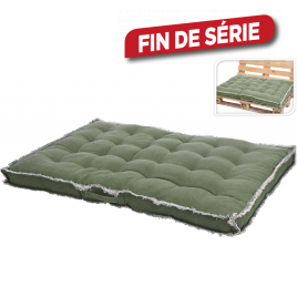 Coussin vert pour palette 120 x 80 x 8 cm