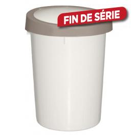 Poubelle Futuris ivoire 45 L ALLIBERT