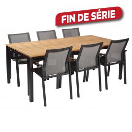 Ensemble de jardin Daon : 1 table et 6 fauteuils