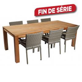 Ensemble de jardin Thise : 1 table et 6 fauteuils