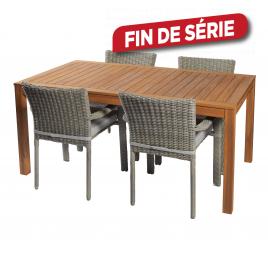 Ensemble de jardin Carros : 1 table et 4 fauteuils