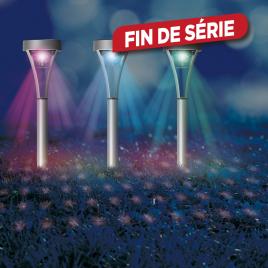 Lampe de jardin solaire Disco LED 3 pièces
