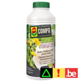 Herbicide et anti-mousse naturel pour allées et sentiers 1 L COMPO