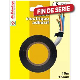 Adhésifs isolant électrique 10 m x 15 mm - Noir