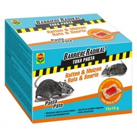 Pâte anti-souris et anti-rats Barrière Radikal 15 pièces COMPO