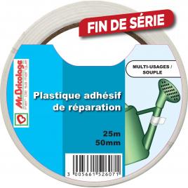 Adhésif de réparation PVC blanc - Blanc - 5m x 50 mm