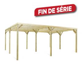 Carport en bois Monza 6 x 5 x 2,41 m