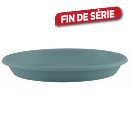 Soucoupe ronde bleue grise Ø 14 cm