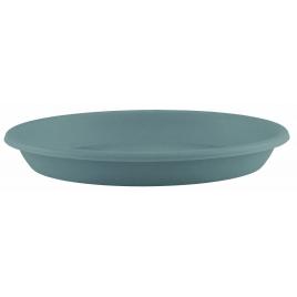 Soucoupe ronde bleue grise Ø 16 cm