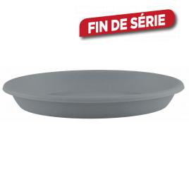 Soucoupe ronde bleue grise Ø 20 cm