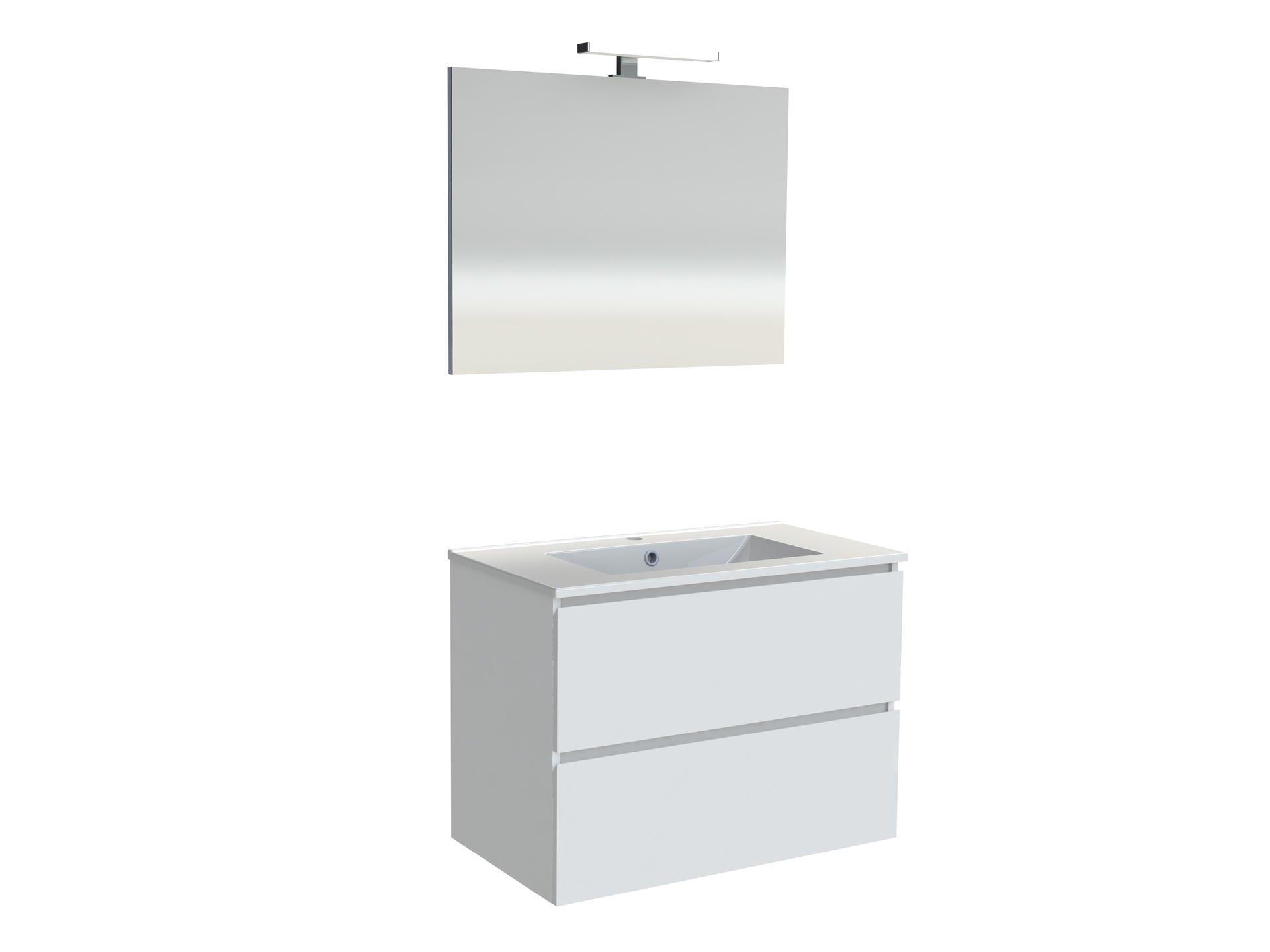 Feuille Stratifié Blanc Brillant meuble sous-plan livio 80 cm blanc brillant allibert - mr.bricolage
