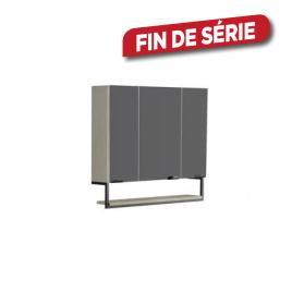 armoire de toilette trentino ch ne 80 cm allibert. Black Bedroom Furniture Sets. Home Design Ideas