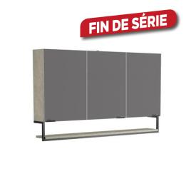 Armoire de toilette Faktory 120 cm béton minéral ALLIBERT