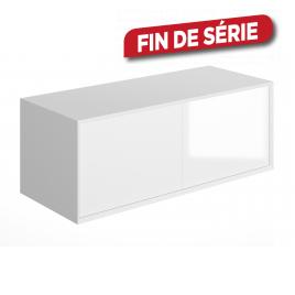 Meuble sous-plan Frameline 120 cm blanc brillant ALLIBERT