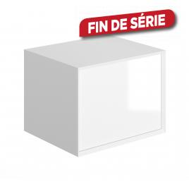 Meuble sous-plan Frameline 60 cm blanc brillant ALLIBERT