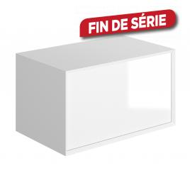 Meuble sous-plan Frameline 80 cm blanc brillant ALLIBERT