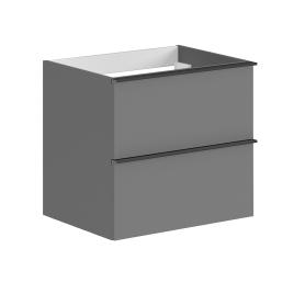 Meuble sous-plan à suspendre Santiago 60 cm gris onyx ALLIBERT