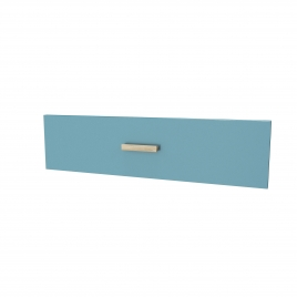 Facade de tiroir pour caisson Fjord 80 cm laqué bleu AURLANE