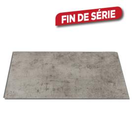Dalle en PVC Ciment foncé 65 x 37,5 cm 8 pièces DUMAWALL
