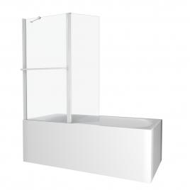 Paroi de bain Ibiza blanc 130 x 104 cm AURLANE